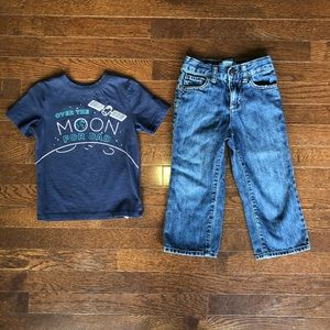 3t Oldnavy T-shirt and Jeans